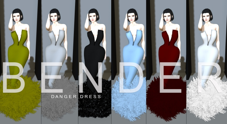 B E N D E R Brutal Couture Danger Dress